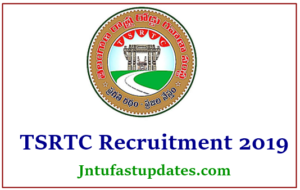 TSRTC Recruitment 2019 Apply Online