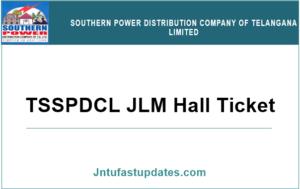 TSSPDCL JLM Hall Ticket 2019
