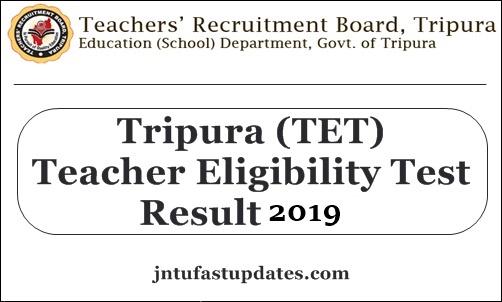 Tripura TET Result 2019