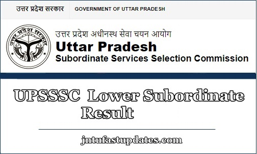 UPSSSC Lower Subordinate Result 2019