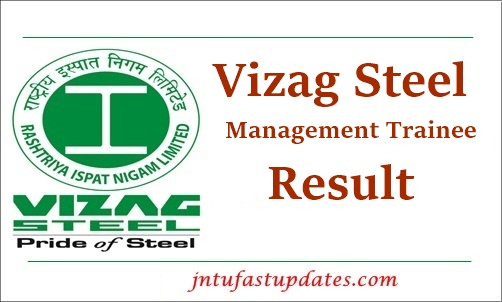 Vizag Steel Management trainee Result 2021