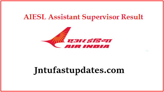 AIESL Assistant Supervisor Result 2019