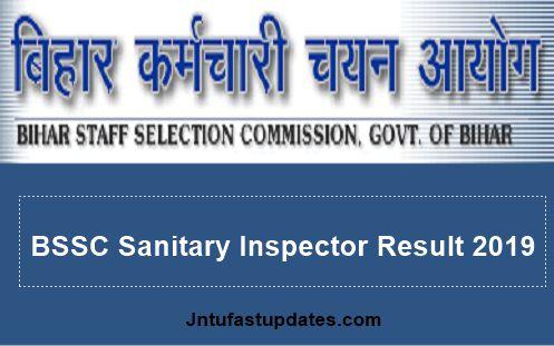 BSSC Sanitary Inspector Result 2019