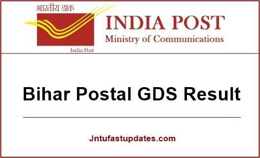 Bihar GDS Result 2019, Merit List