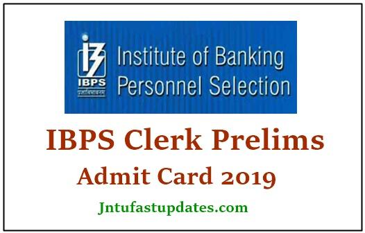 IBPS Clerk Prelims Admit Card 2019