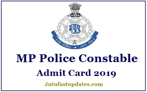MP Police Admit Card 2019 Download