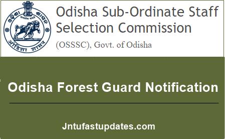 Odisha Forest Guard Notification 2019-20