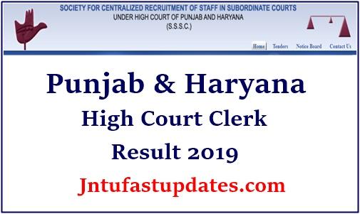 Punjab And Haryana High Court Clerk Result 2019