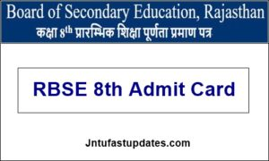 RBSE-8th-Admit-Card-2020