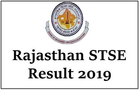 Rajasthan STSE Result 2019