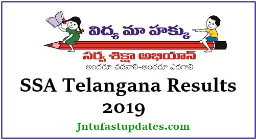 SSA Telangana Results 2019