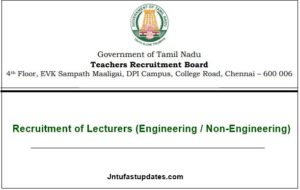 TN TRB Polytechnic Lecturer Recruitment 2020