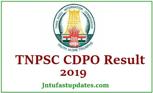 TNPSC CDPO Result 2019