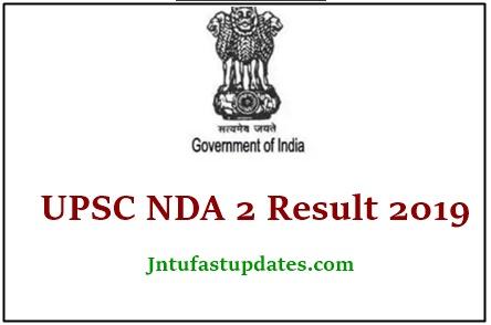 UPSC NDA 2 Result 2019