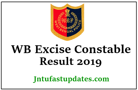 WB Police Excise Constable Result 2019