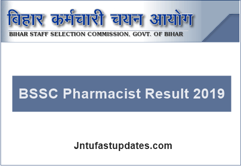 BSSC Pharmacist Result 2019