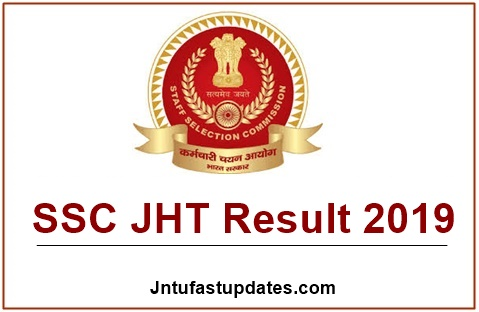 SSC JHT Result 2019