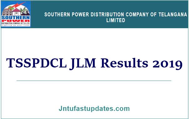 TSSPDCL JLM Results 2019