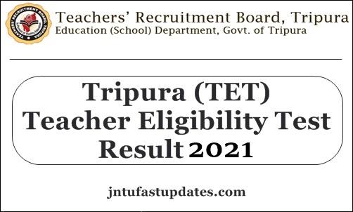 Tripura tet result 2021