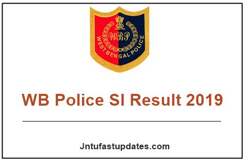 WB Police SI Result 2019