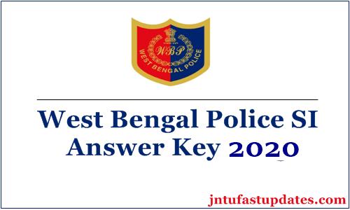 wb police si answer key 2020