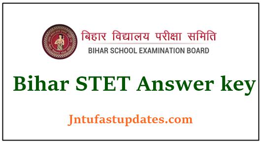 Bihar STET Answer Key 2020