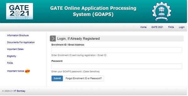 GATE Admit Card 2021
