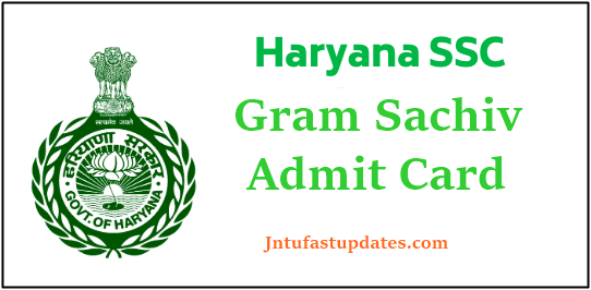 HSSC Gram Sachiv Admit Card 2020
