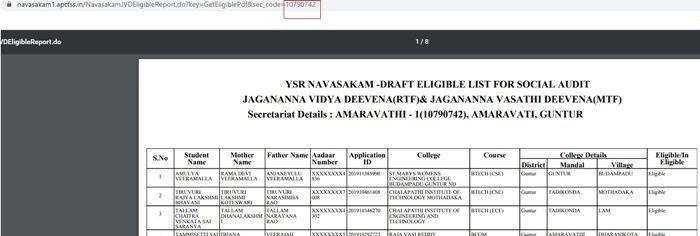 Jagananna Vidya Deevena Status