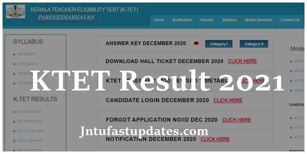 KTET Result 2021