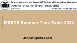 MSBTE-Summer-Time-Table-2020