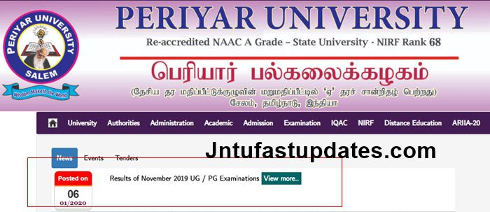 Periyar-University-Results-of-November-2019-UG-PG-Examinations