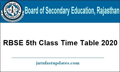 RBSE-5th-Class-Time-Table-2020