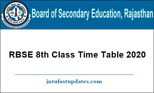 RBSE-8th-Class-Time-Table-2020