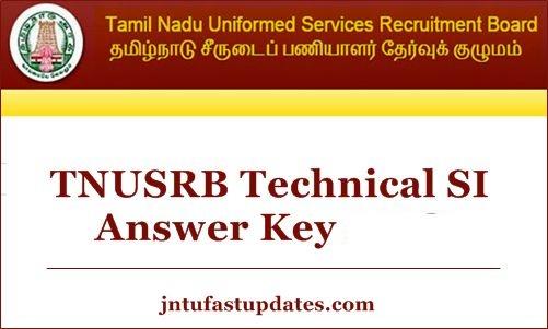 TN POlice Si Answer key 2020