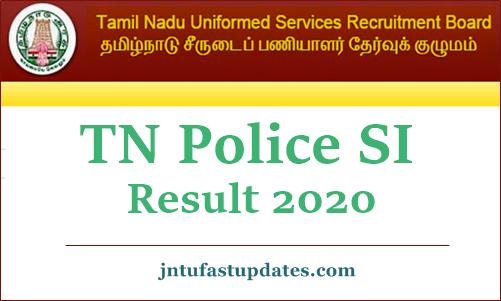 TN police SI Result 2020