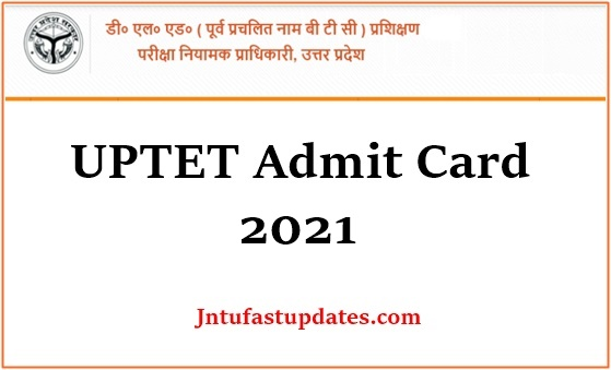 UP TET Admit card 2021