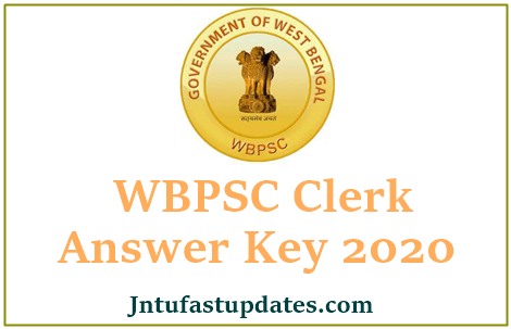 WBPSC Clerk Answer Key 2020