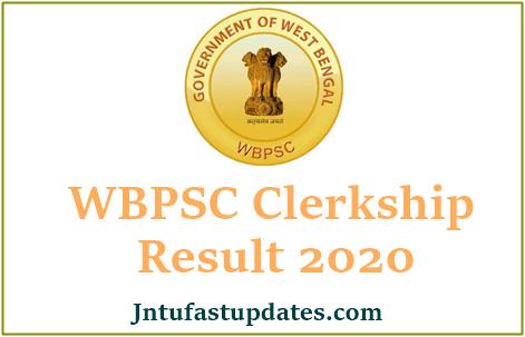 WBPSC Clerk Result 2020