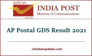 AP Postal GDS Result 2021