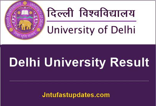 delhi university result 2019