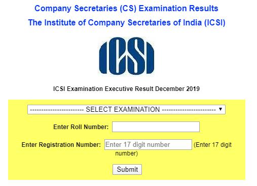 ICSI Executive Result Dec 2019