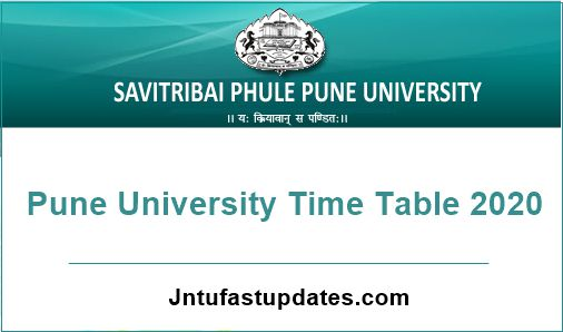 Pune-University-Time-Table-2020