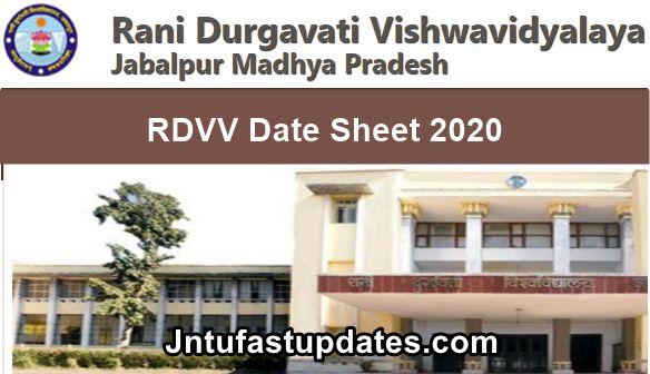 RDVV-Date-Sheet-2020