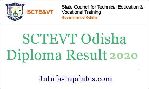 SCTEVT Odisha Diploma result 2020