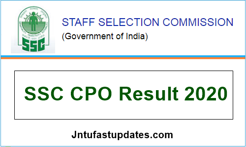 SSC CPO Tier 1 Result 2020