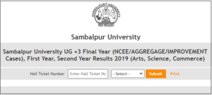 Sambalpur University UG +3 Final, 1st, 2nd Year Result