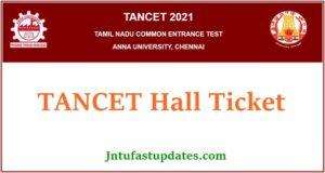 TANCET Hall Ticket 2021