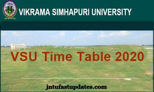 VSU-Degree-Time-Table-2020