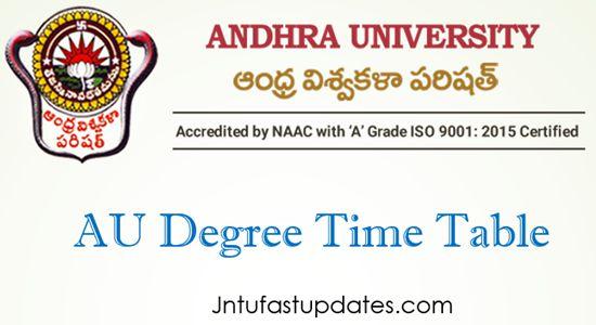 au-degree-time-table-2021